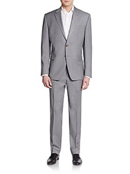 Lauren Ralph Lauren Regular Fit Wool Suit Light Grey