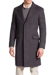 Brunello Cucinelli Wool Cashmere Overcoat Charcoal