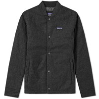 Patagonia Recycled Wool Bomber Jacket Grey