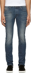 Diesel Blue Faded And Distressed Thavar Jeans
