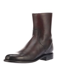 Lucchese Jonah Calf Leather Boots Black Cherry