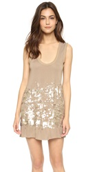 Wgaca Heritage Givenchy Sequin Tank Dress Brown