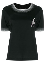 Marco De Vincenzo Deer Embellished T Shirt Black