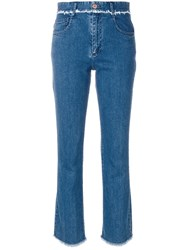 See By Chloe Frayed Trim Jeans Women Cotton Spandex Elastane 30 Blue