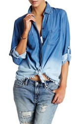 Beach Lunch Lounge Nadia Frayed Ombre Blouse Multi