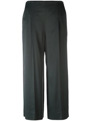 Chalayan Cropped Wide Legged Trousers Green
