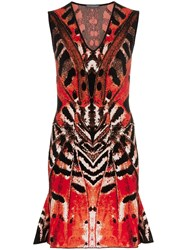 Alexander Mcqueen Butterfly Jacquard Mini Dress Multicolour