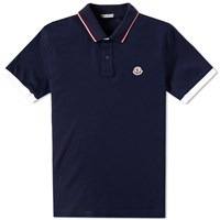 Moncler Tipped Polo Blue