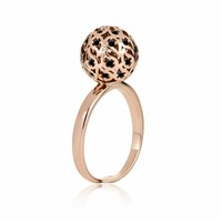 Sonal Bhaskaran Svar Rose Gold Sphere Ring Spinel Black Rose Gold