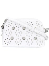 Versus Flower Studded Crossbody Bag White