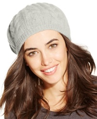 Charter Club Cashmere Cable Beret Ivory