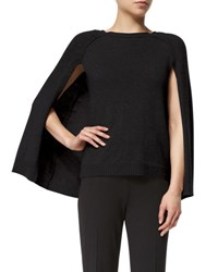 Ralph Lauren Knit Cashmere Cape Sleeve Sweater Black