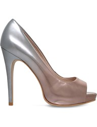 Carvela Alberta Patent Leather Ombra Courts Silver Com