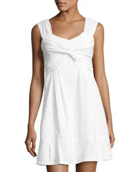 Nanette Lepore Front Twist Knit Dress White