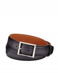 Berluti Classic Calf Leather Belt Black