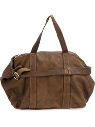 Guidi Classic Holdall Tote Deer Skin Brown
