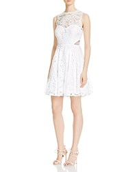 Aqua Lace Fit And Flare Dress Ivory