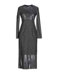 Andrea Incontri 3 4 Length Dresses Grey