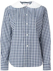 Comme Des Garcons Girl 'Gingham' Shirt Blue