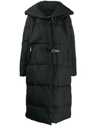 Barbara Bui Quilted Buckled Coat Black