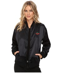 Obey Sadie Satin Jacket Black Women's Coat