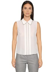 Emporio Armani Light Silk Crepe De Chine Top