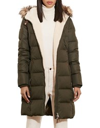 Lauren Ralph Lauren Faux Fur Trimmed Quilted Parka Litchfield