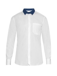 Joseph Bolton Denim Collar Cotton Poplin Shirt