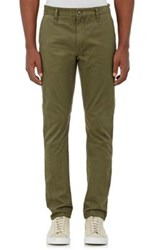 Barneys New York Men's Cotton Twill Slim Fit Chinos Green Dark Green Green Dark Green