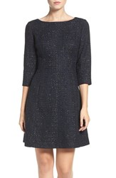Vince Camuto Women's Metallic Tweed Fit And Flare Dress