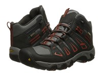 Keen Oakridge Mid Waterproof Raven Burnt Ochre Men's Waterproof Boots Black