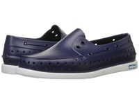 Native Howard Regatta Blue Shell White Shoes