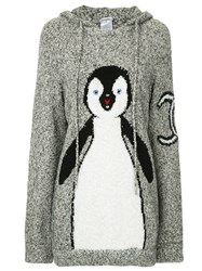 Chanel Vintage Knitted Penguin Hoodie Grey