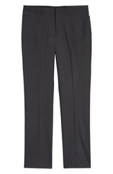 Nordstrom Shop Tech Smart Trim Fit Stretch Wool Travel Trousers Charcoal