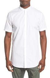 Men's Zanerobe 'Seven Ft' Tuck Collar Elongated Short Sleeve Woven Shirt