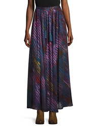 Free People True To You Crepe Maxi Skirt Navy