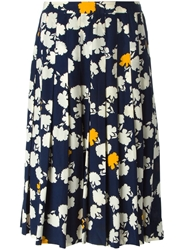 Celine Vintage Flower Printed Skirt