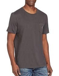 Polo Big And Tall Cotton Jersey Pocket Tee Black