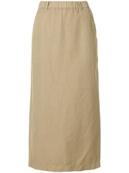 Aspesi Midi Straight Skirt Nude And Neutrals