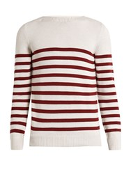 A.P.C. Lord Striped Cotton Sweater Cream Multi