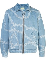 Aries Chain Print Denim Jacket 60