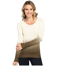 Mountain Khakis Darby Dip Dyed Sweater Cream Women's Sweater Beige
