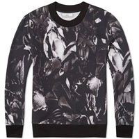 Ami Alexandre Mattiussi Ami All Over Print Floral Crew Sweat Black And Grey