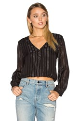 Amuse Society Moonlight Woven Top Black