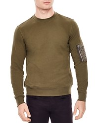 Sandro Enemy Sweatshirt Olive Green