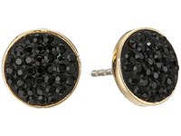 Marc By Marc Jacobs Pave Disc Stud Earrings Black Earring