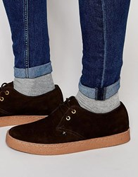 Farah Fame Suede Chukka Shoes Brown