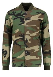 Only And Sons Onscamo Bomber Jacket Olive Night