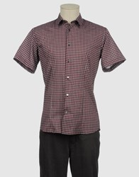 I.D.I.B. Shirts Short Sleeve Shirts Men Maroon