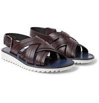 Dolce And Gabbana Leather Sandals Merlot